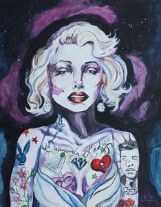 Lex Cavoto's tattooed Marilyn