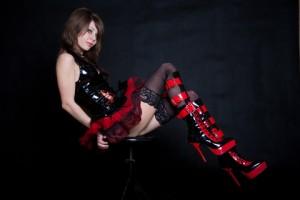 hot goth model